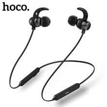 Купить с кэшбэком HOCO Bluetooth Headphones with Microphone Remote Stereo Earbuds in-Ear Hook Wireless Headset Earphones For iPhone Samsung Phones