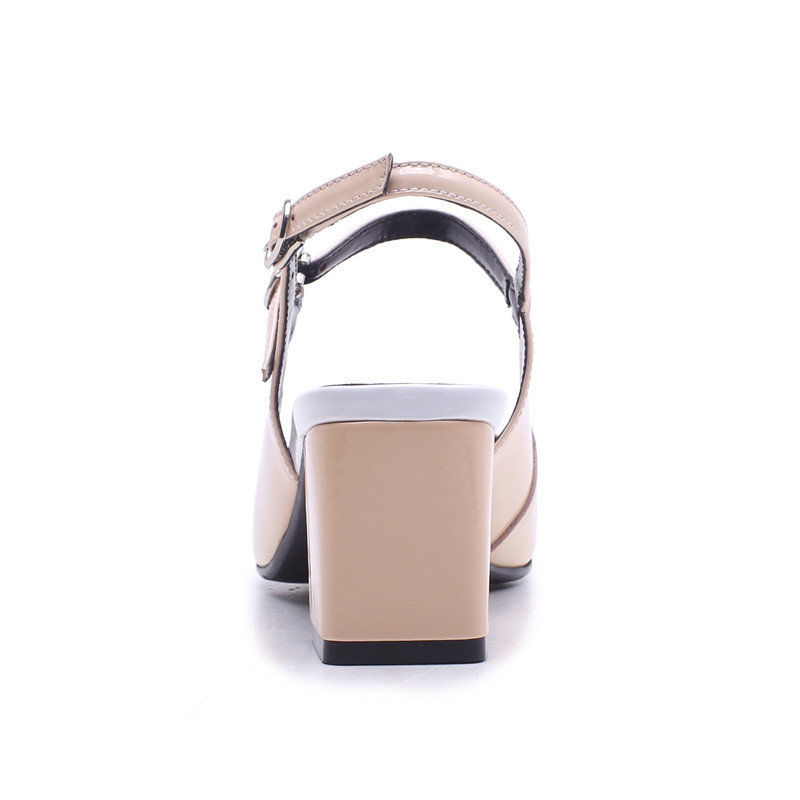 Fashion Square Buckle nero Wedding Toe New marrone pelle rosa Donna Shoes Asum vera Tacchi Prom Heel alti 2019 n5cxWa6HwX