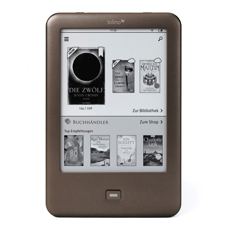 , E Ink Carta, 800 x 600 Pixeles, 4:3, EPUB DRM,PDF,TXT, 4 GB Tolino Page lectore de e-Book Pantalla t/áctil 4 GB WiFi Gris 15,2 cm E-Reader 6