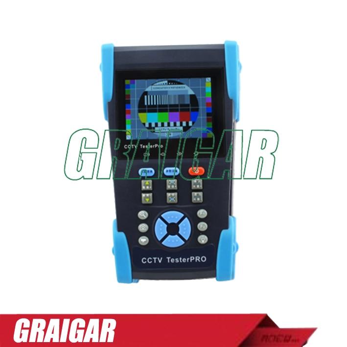 Free 4GB + HVT-2601 3.5 TFT-LCD Camera CCTV POE Tester PTZ Controller Zoom DVR