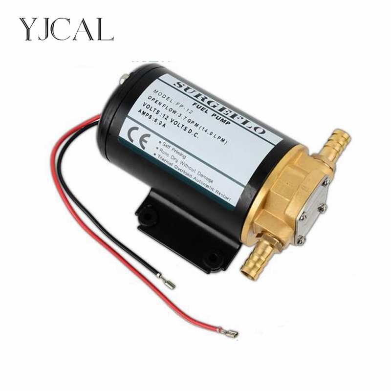FP-12/24 DC 12V 24V Fuel Transfer Gear Oil Self-priming Diesel Pump Rapid Sucker Lubricating Mini Filter Accessories fip 3200 12v 24v dc gear pump refueling self priming diesel pump miniature lubricating oil pumping pump mini filter accessories