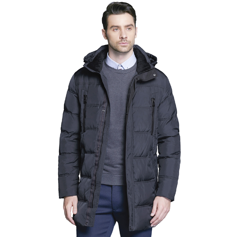 ICEbear 2017 Winter Men's Jacket Fashion Casual Warm Parka Winter Man Coat Loose Large Size Men's Thickening Clothing 16M899D new winter jacket women fashion down wadded coat female houndstooth fur collar cotton coat hooded parka casual jackets c1182
