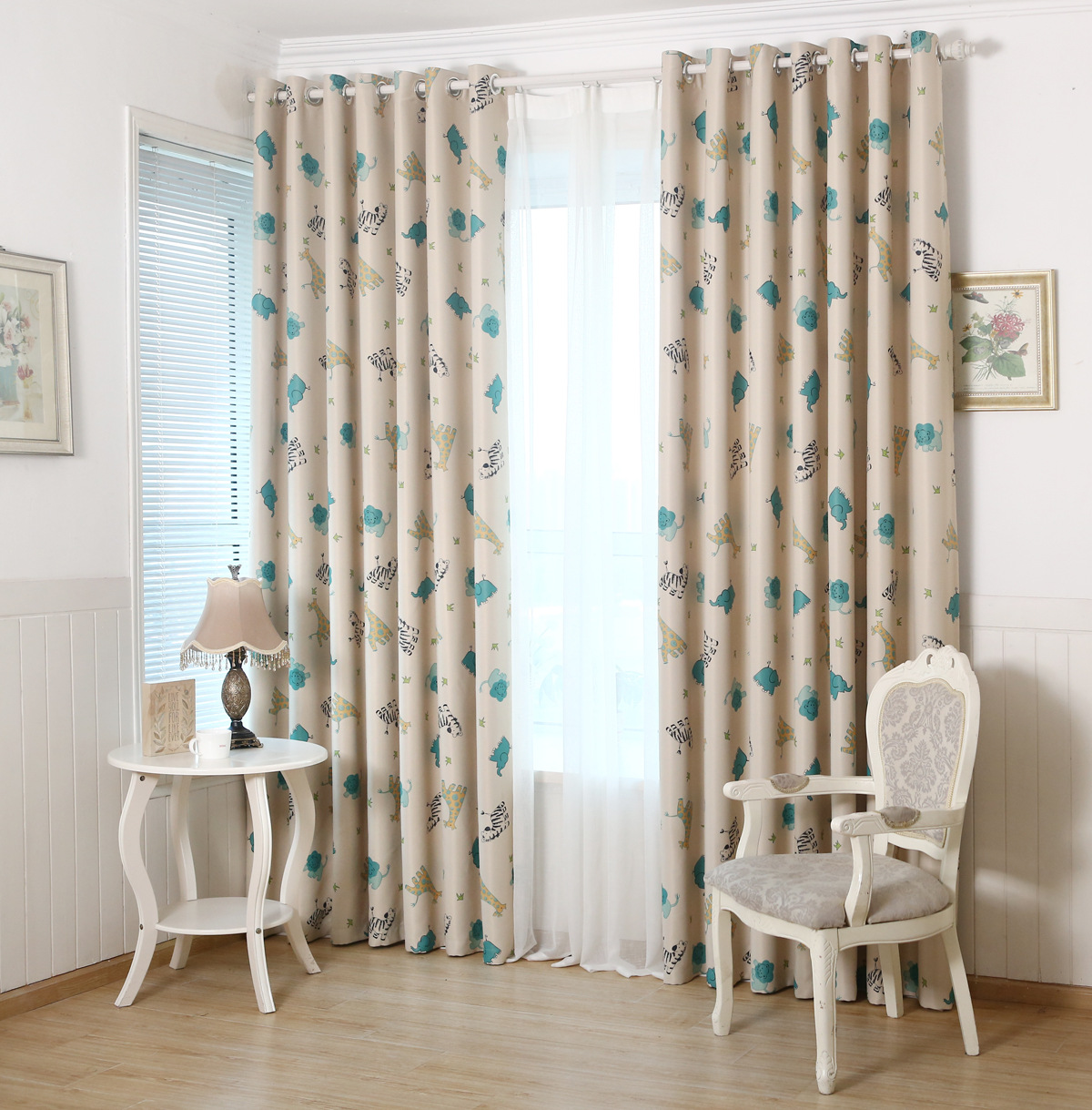Cute window curtains - Animal Paradise Korean Curtain Bedroom Window Curtain Cloth Cute Kids Curtains For Children Room Living Room