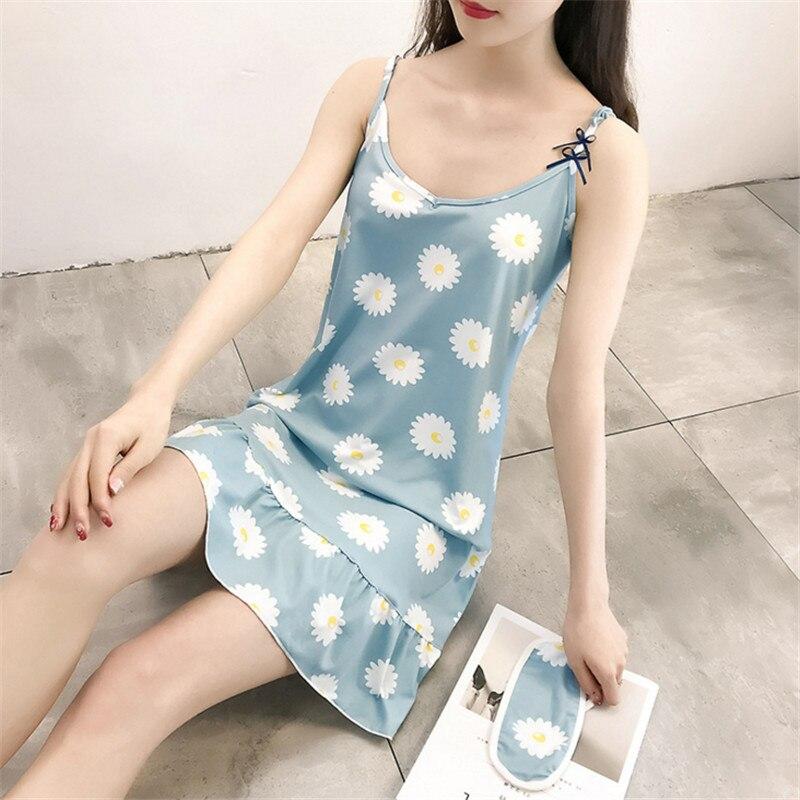 2018 Lovely Princess Floral Nightdress Female Nightgowns Flower Women Sleepshirts AD0248