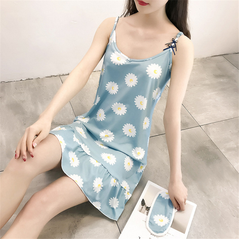 2018 Lovely Princess Floral Nightdress Female   Nightgowns   Flower Women   Sleepshirts   AD0248