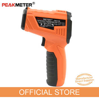 PEAKMETER PM6519B Laser LCD Digital IR Infrared Thermometer Temperature Meter Gun Point -50~500 Degree Non-Contact Thermometer - DISCOUNT ITEM  32% OFF All Category