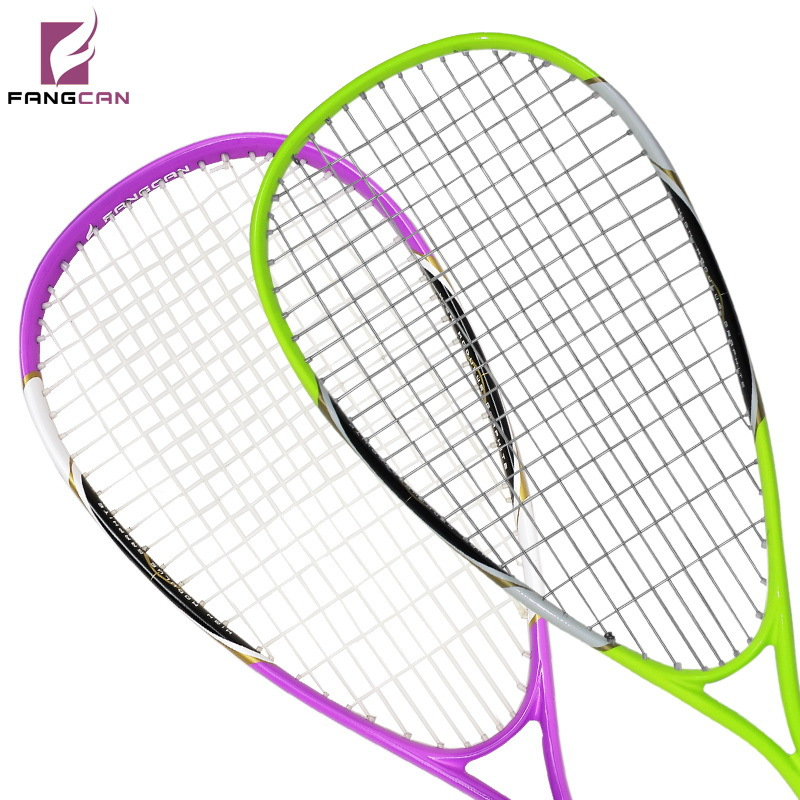 (2pcs/lot) FANGCAN Composited Titanium Squash Rackets Couple Squash Racquets with String and Cover ...