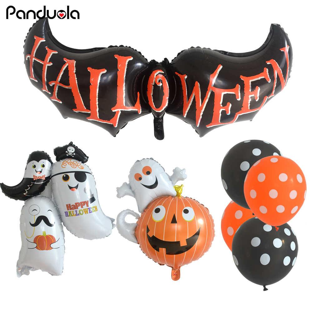 Хэллоуин Тыква призрак фольгированные шары паук воздущные шары Детские игрушки летучая мышь глобс Хэллоуин воздушные шары вечерние украшения Принадлежности Торт Топпер