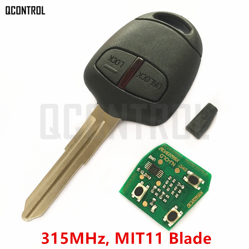QCONTROL Car Remote Key Fit for MITSUBISHI Outlander Pajero ASX Lancer MIT11 Blade 315MHz with ID46