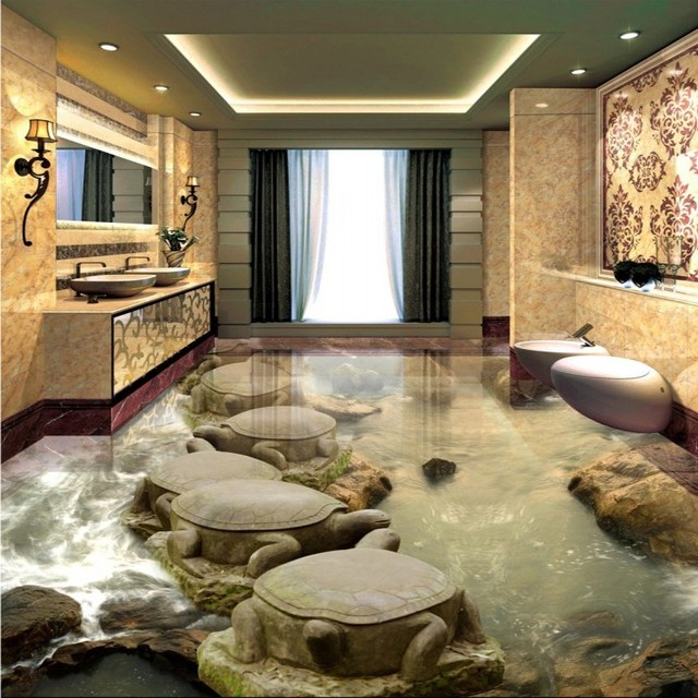 Gratis Verzending Stone water turtles stenen brug woonkamer badkamer ...