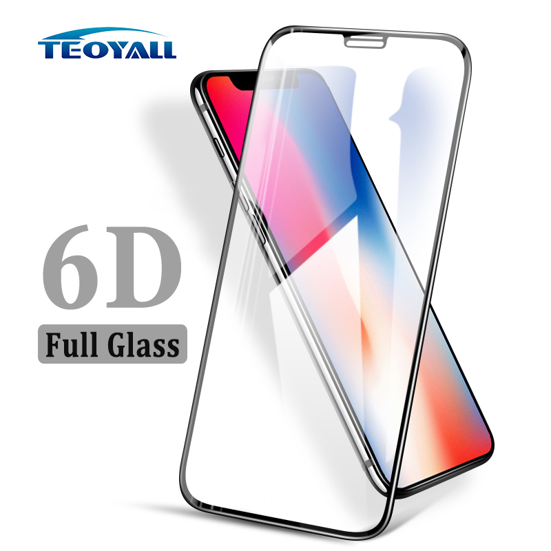 TeoYall Small Edge 6D Full Tempered Glass For IPhone XS Max XS XR X Screen Protector For Apple IPhone 6 6s 7 8 Plus Glass Film