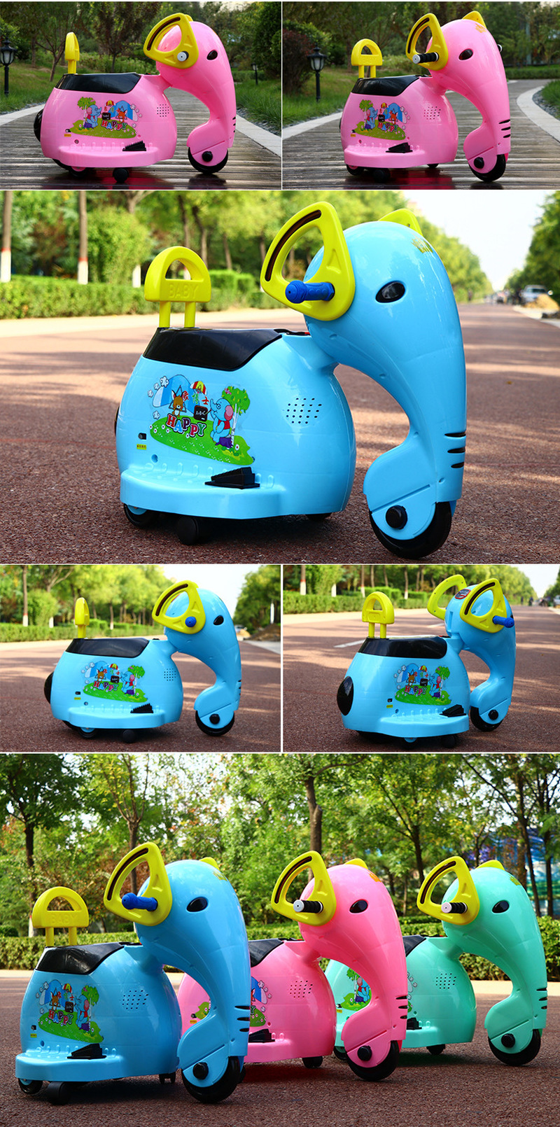 2019 éléphant enfants moto électrique 1-8 ans bébé jouet voiture enfants monter sur voiture tour électrique sur moto voitures pour enfants - 5
