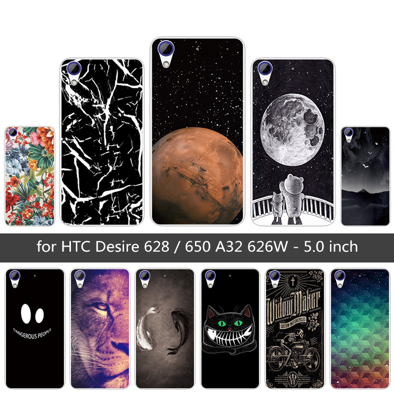 Soft TPU For HTC 628 626 626w Lion Phone Case For HTC Desire 626 628 5.0 inch Soft Silicone for 626w 626D 626G 626S Cover