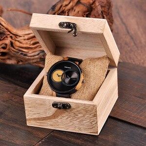 Image 5 - בובו ציפור יוקרה גברים שעון זוג שעונים שני שונה זמן אזור תצוגה עם מיוחד צבע חדש עיצוב reloj mujer C R10