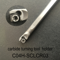 C04H SCLCR03 Carbide Turning Tool Holder Diameter 4mm Length 100mm Use Tungsten Insert CCGT030102L F TN60