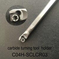 C04H SCLCR03, carbide turning tool holder diameter 4mm length 100mm use tungsten insert CCGT030102L F TN60