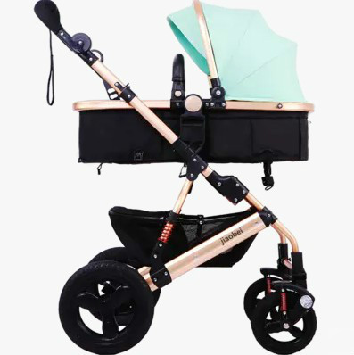 High lift sleeping basket landscape baby stroller four-wheel shock explosion-proof folded car can sit lie