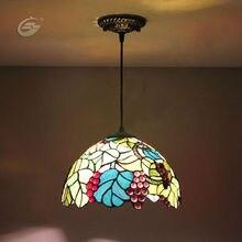 Европейский стиль 30 см цветное стекло виноград серии ресторан огни YSL1007