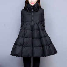 Модное однотонное женское хлопковое пальто с карманами, зима, Новая повседневная длинная куртка на молнии, теплые толстые хлопковые куртки для женщин