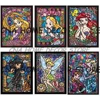 Cartoon Princess Full Drill Mosaic Rhinestone 5D DIY Diamond Painting Cross Stitch Kits Handmade Embroider Crafts