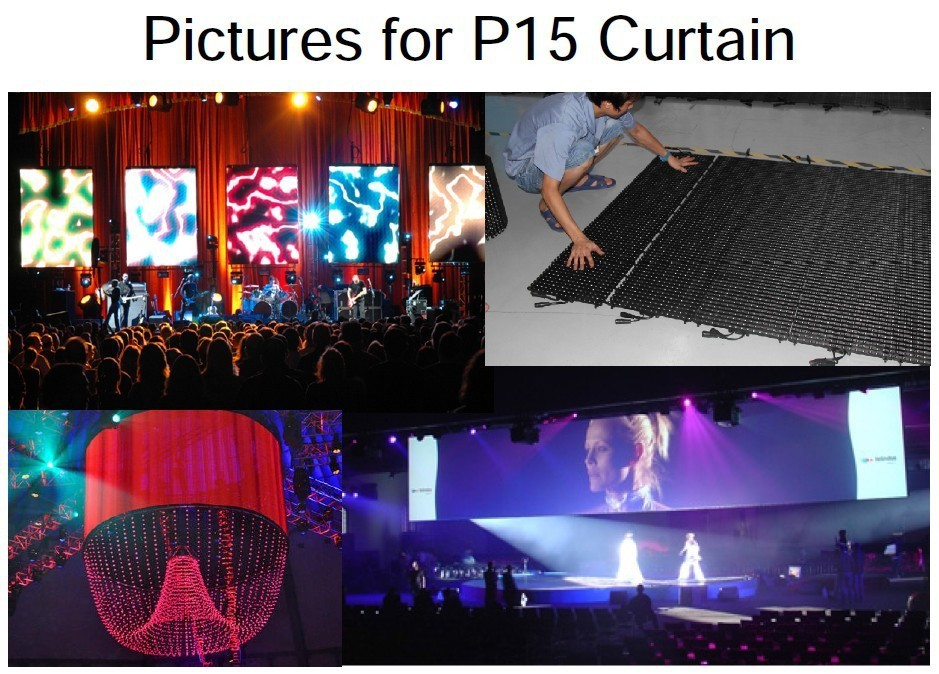 Indoor P15 soft curtain