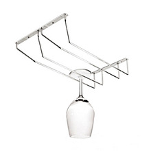 1PC Fashion stainless steel wine cup goblet wine glass rack fashion wine hanging holder cup rack double row J2075
