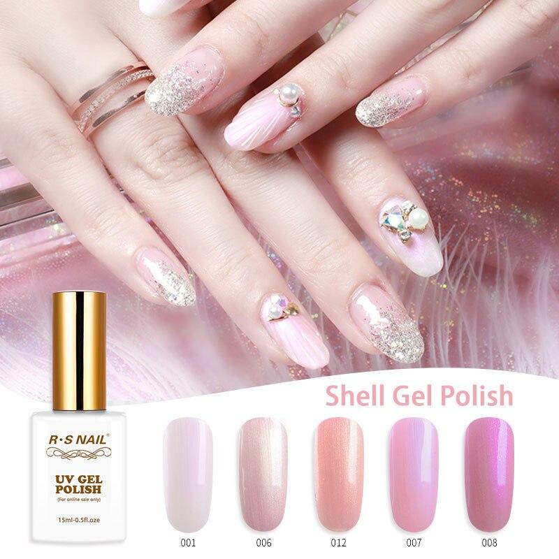 Rs Nail: RS Nail 15ml Shell Gel Nail Polish UV Color Nail Gel