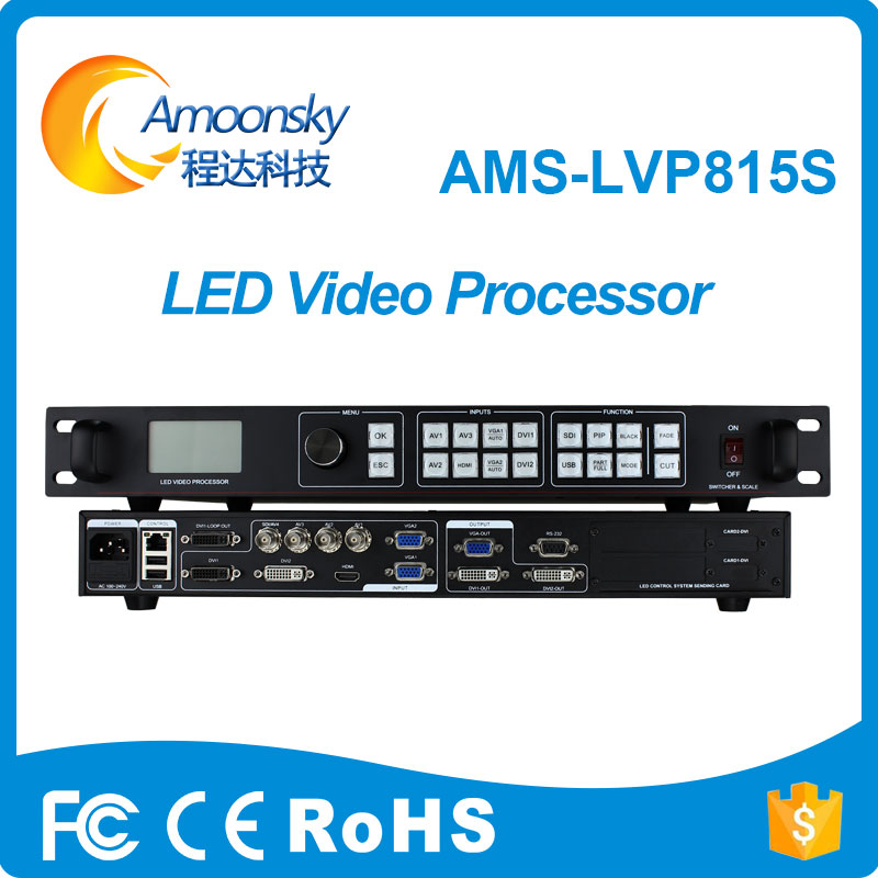 LED Video Processor Scaler PIP POP Function Support Custom Resolution 3840*640 2560*816 2304*1152 Original Factory