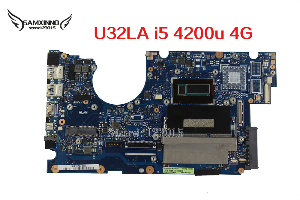 for ASUS UX32LA laptop motherboard UX32LA processor i5-4200U 4G MAIN BOARD 100% fully tested & working 2017 new arrival ac 180 240v led ceiling lamp octopus light energy saving long life expectancy indoor lighting free shipping