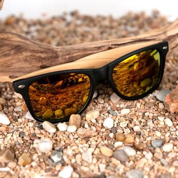 BOBO BIRD Square Vintage Sunglasses Men Women Wood Sun Glasses Retro Polarized oculos Brand 8