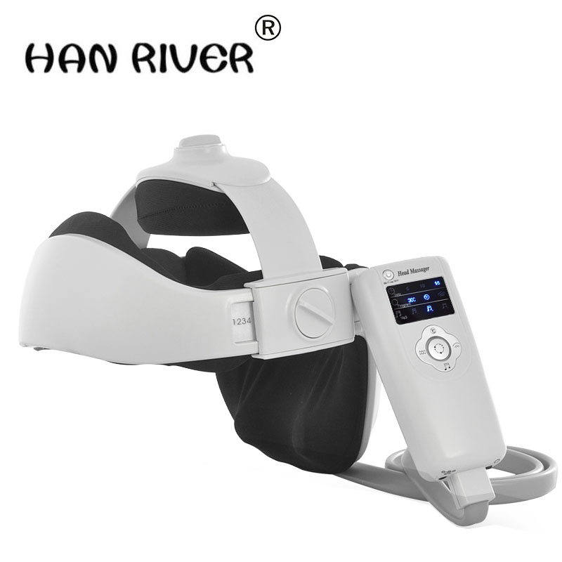 The head massager electric insomnia massager multi-function scalp massage helmet brain easily Body massage instrument vibrating head massager music electric head and scalp massager brain massage improves sleep body vibration machine massage