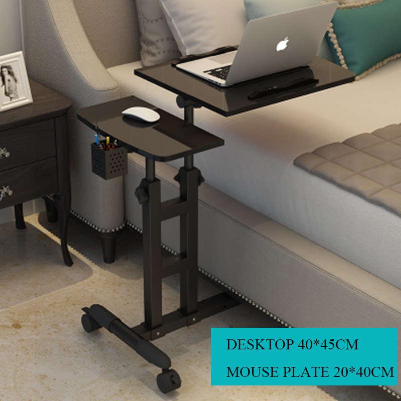 Складной компьютерный стол 64*40 см регулируемый портативный стол для ноутбука вращающийся столик для ноутбука может быть поднят стоячий сто...