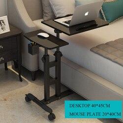 2018 mesa de ordenador plegable 64*40CM mesa de ordenador portátil ajustable rotar mesa de cama de ordenador portátil se puede levantar de pie escritorio