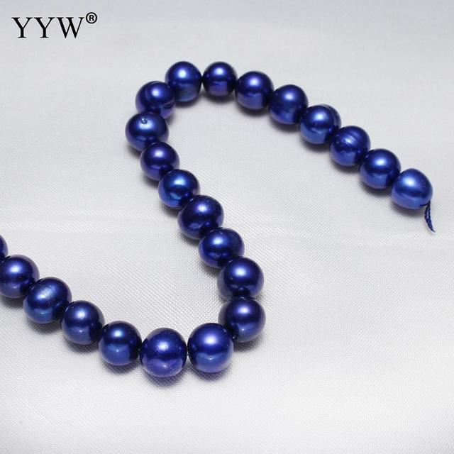 Cultured Potato Freshwater Pearl Beads dark blue 9-10mm Sold Per Approx 15 Inch Strand