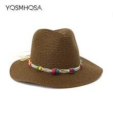 Gran sombrero de paja sol de verano playa sombrero Boho sombreros de Sol  para mujeres chica 932b742f26d7