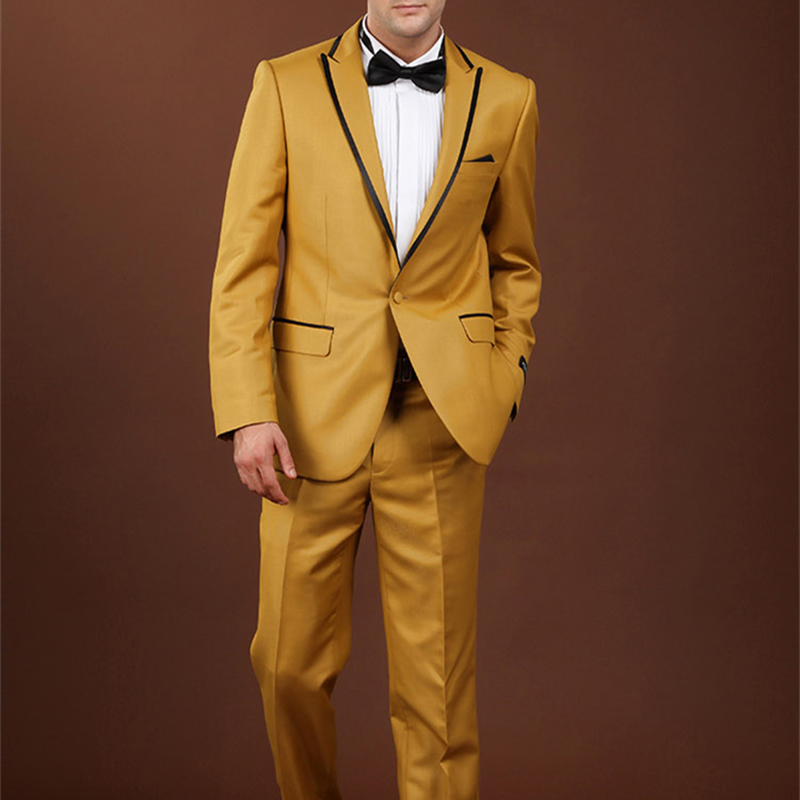 Popular Men Gold Suits-Buy Cheap Men Gold Suits lots from China ...