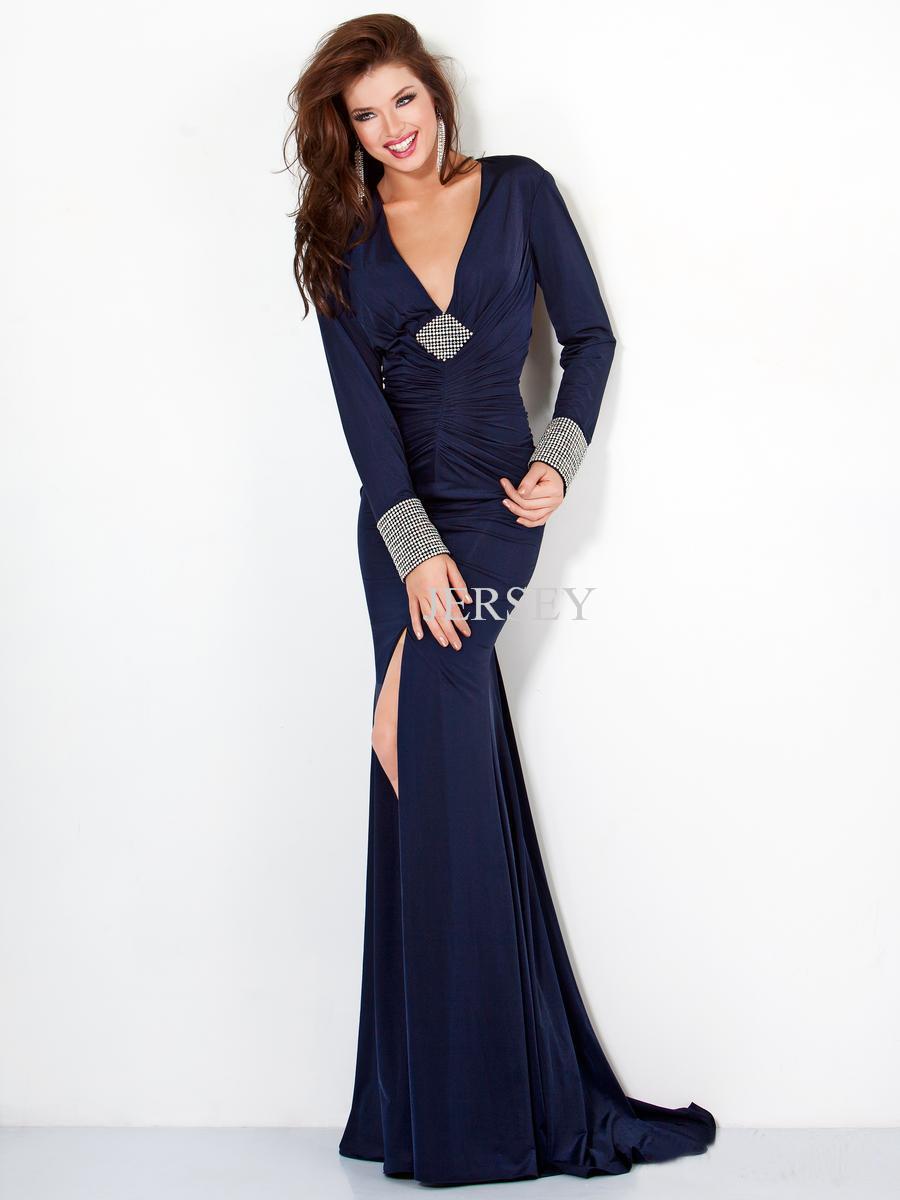 2019 New Fashion Deep V-neck Backless Long-sleeve Vestidos Formales Royal Blue Dinner Robe De Soiree Mother Of The Bride Dresses