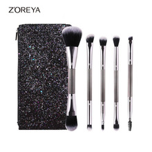 ZOREYA Brand 5Pcs New Glitter Makeup Brush Eyeshadow Foundation Powder Blending Brush Makeup Brushes Set Pincel Maquiagem