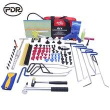 Pręty Haki PDR Narzędzia Zestaw Do Naprawy Karoserii Auto Repair Tool zestaw Drzwi Dent Ding Grad Przyssawki Do Usuwania Kleju Młotek Wysokiej jakość