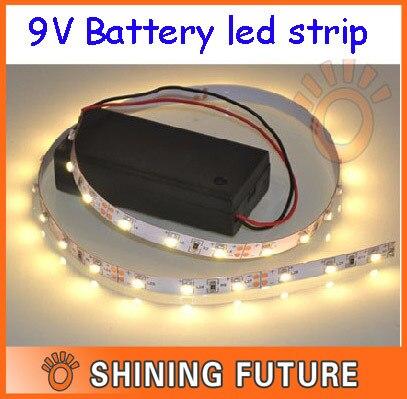 100cm non waterproof 3528 smd 9v battery powered led strip light in led strips from lights. Black Bedroom Furniture Sets. Home Design Ideas