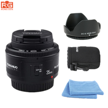 YONGNUO YN35mm F2 1:2 AF MF Wide-angle Fixed Prime Len for Canon EF EOS Camera Free lens bag Cleaning Kit