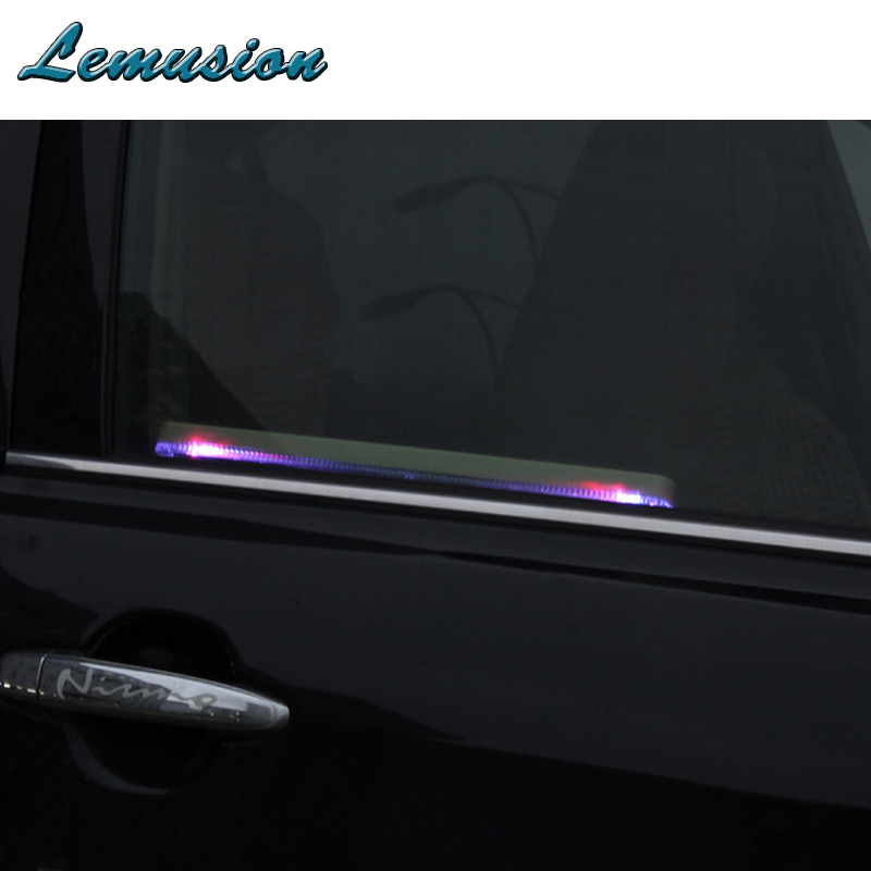 Car-styling 1X Car window solar atmosphere light Accesories Adjustable For Mercedes w204 w203 Peugeot 206 307 407 Citroen c4 c5