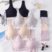 Lingerie Bra Panties-Set Suit Push-Up-Bra-Set Seamless Sexy And Jerrinut Vest Wire-Free