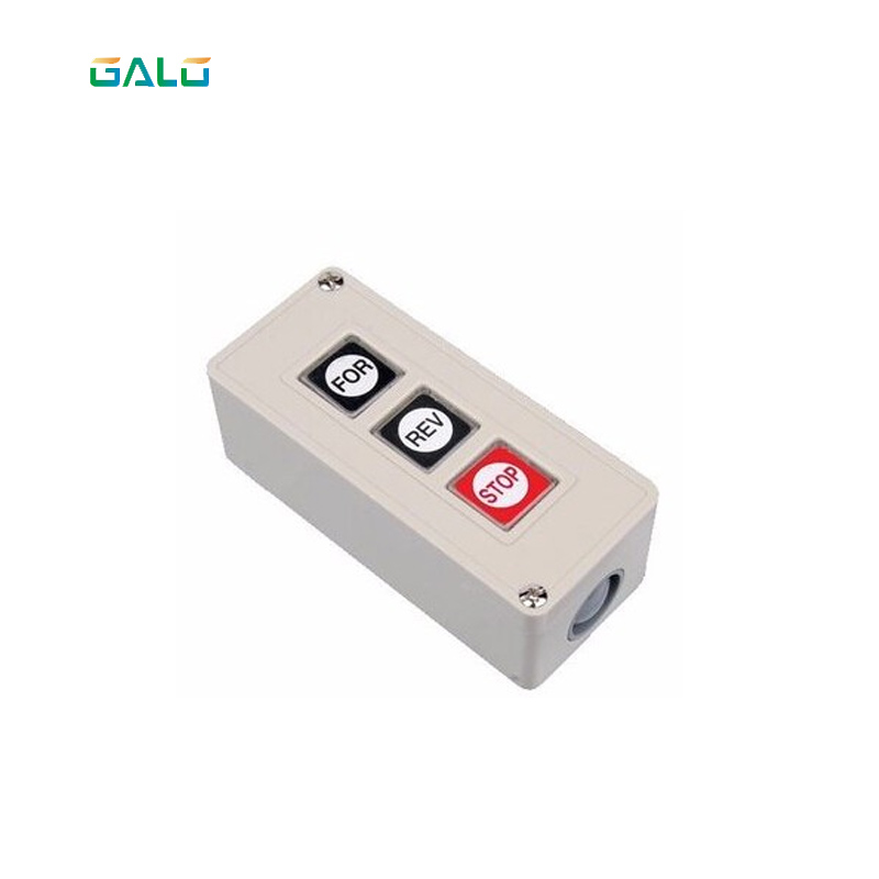 Barrier sliding swing gates Commercial Garage Door Opener Three Button StationPush button Switch