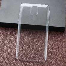 Nova Chegada Ultra Fino Transparente Sujeira-Resistente Plástico Crystal Clear Rígido de Volta Caso Capa para o Samsung Galaxy Note 3 N9000