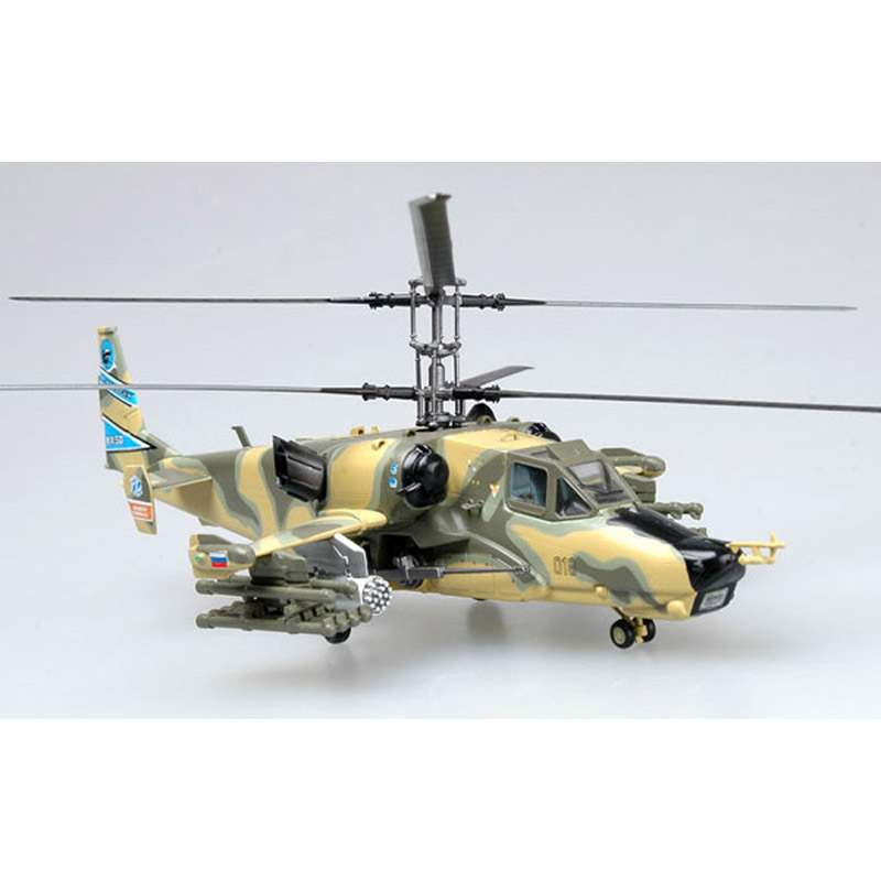 TRUMPETER Easy model Russia Ka-50 B Hokum Helicopter Model 1/72 Scale Diecast Finished Alloy Toy For Collect Gift 1 72 europe tiger helicopter model alloy aircraft model assembly finished high grade gift collection