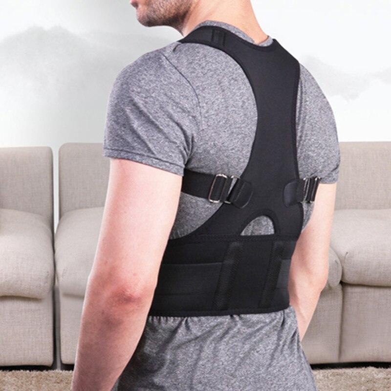 New Adjustible Magnetic Posture Corrector Corset Back Brace Shoulder Lumbar Spine Support Belt Posture correction for Men Women 2