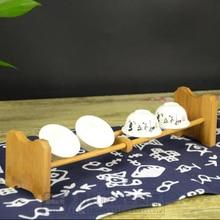 Original bamboo cup holder storage cup Single layer tea cup rack organizador cabideiro kung fu tea set pamboo ventosa gift