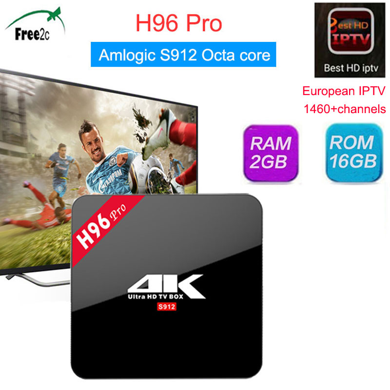 Best HD Italy European IPTV H96 Pro 2G/16G 3G/16G Amlogic S912 Octa core Android 7.1 Smart TV Box Support IPTV 1460+channels dhl free shipping 3u chassis 8 channels mpeg4 avc h 264 hd hdmi to iptv encoder for iptv live streaming