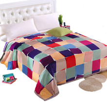 Winter Thicken baby adult scarf Ferret cashmere warm blankets brand fleece soft throw on Sofa Bed